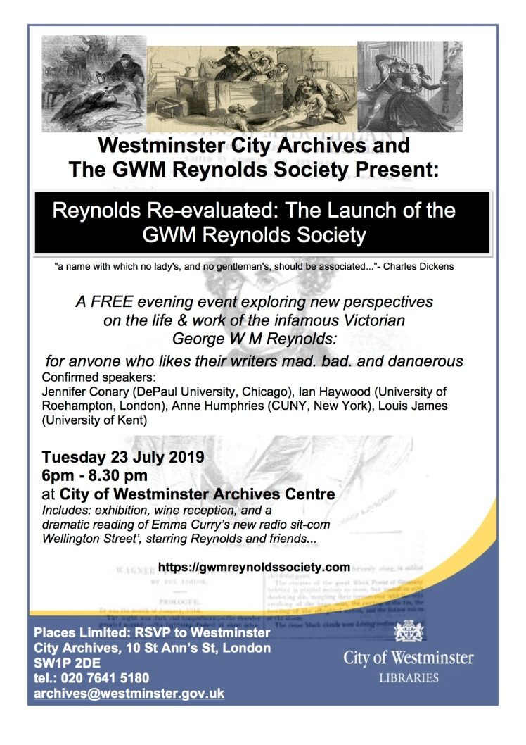 Reynolds Society Launch poster
